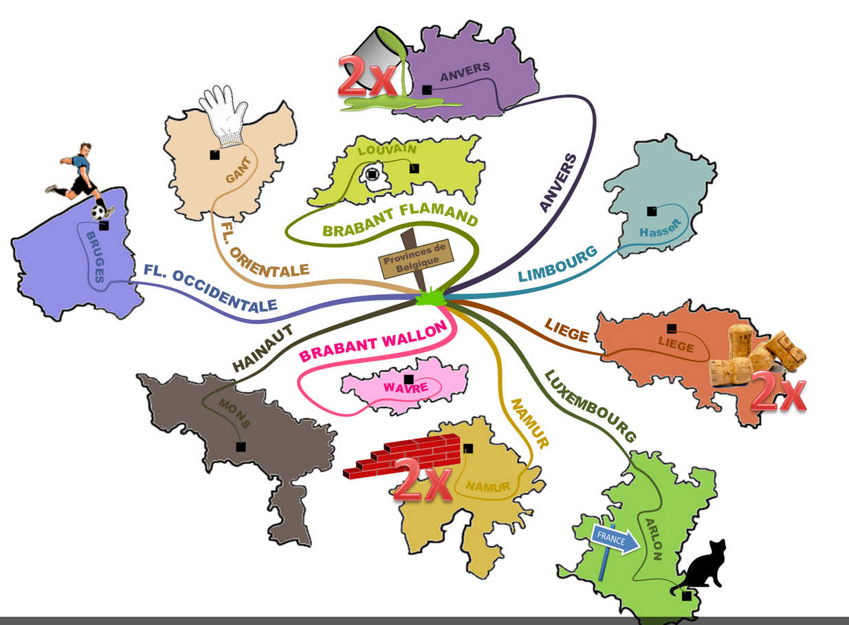 mind map cantons BELGIQUE REALISEE